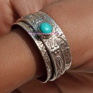 turquoise meditation rings
