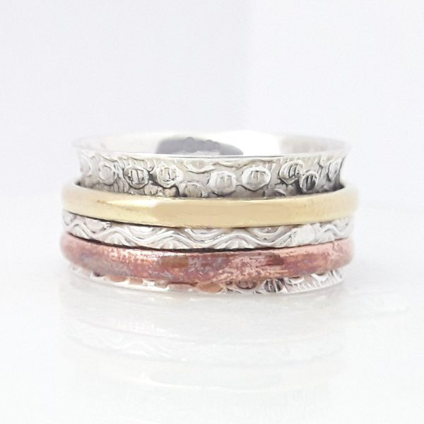 Meditation Ring Thumb Ring 925 Silver Ring Anxiety Ring Worry Ring Women Ring Designer Ring Best Spinner Ring Statement Ring Wife