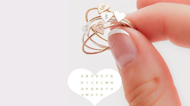 personalised initial rings