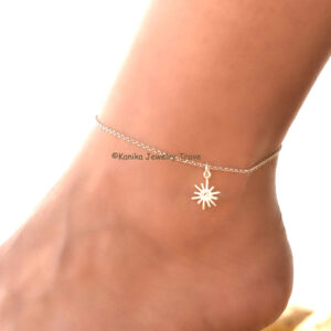 sterling silver anklets for women