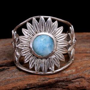 Larimar Silver Rings for Women