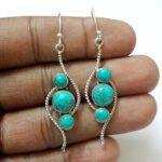 3-Stone-Turquoise-Gemstone-Sterling-Silver-Earrings-B07JDSZGHQ