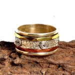 925-Sterling-Silver-Band-Brass-and-Copper-Spinner-Ring-for-Women-Anxiety-Ring-for-Meditaion-Gift-Ring-for-Mothers-Da-B07R9N2LC7-2