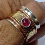 925-Sterling-Silver-Band-Brass-and-Copper-Spinner-Ring-for-Women-Ruby-Spinner-Anxiety-Ring-for-Meditaion-Thumb-Rings-B07R4FLKJJ