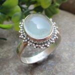 925-Sterling-Silver-Blue-Chalcedony-Ring-Gemstone-Handmade-Jewelry-B07L2TP9RN