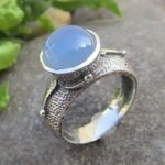 925-Sterling-Silver-Blue-Chalcedony-Ring-Handmade-Jewelry-B07L2G2X55