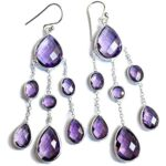 925-Sterling-Silver-Earrings-for-Women-Chandelier-Earrings-Pear-Amethyst-Earrings-Dangle-Earrings-B07SPLNP9J-2