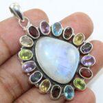925-Sterling-Silver-Moonstone-Multi-Gemstone-Pendant-Jewelry-B07JJ5LWR4