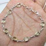 925-Sterling-Silver-Natural-Citrine-Link-Bracelet-Handmade-B07KMHXYYH