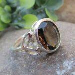 925-Sterling-Silver-Natural-Smoky-Quartz-Ring-Gemstone-Handmade-Jewelry-B07L2VC5YX