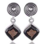 925-Sterling-Silver-Smoky-Quartz-Dangle-Earrings-Handmade-Jewelry-B07TJ2HHK7