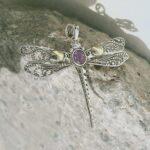 Amethyst-Cut-Dragonfly-Two-Tone-925-Sterling-Silver-Pendant-B07RJWZ4H4-2