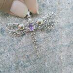 Amethyst-Cut-Dragonfly-Two-Tone-925-Sterling-Silver-Pendant-B07RJWZ4H4-3