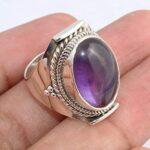 Amethyst-Gemstone-925-Sterling-Silver-Rings-Handmade-Jewelry-B07L2W1KSM