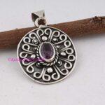Amethyst-Pendant-925-Sterling-Silver-Pendants-for-Womens-Oval-Gemstone-Pendants-Handmade-February-Birthstone-Pendants-B07V4RQTV1
