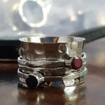 Amethyst-and-Ruby-Silver-Spinner-Ring-925-Sterling-Silver-Statement-Ring-Wide-Band-Ring-Hammered-Meditation-Ring-Spi-B07ZWB35BP