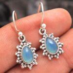 Aqua-Chalcedony-Gemstone-Sterling-Silver-Drop-Earrings-for-Women-and-Girls-Bezel-Set-Ear-Wire-Earrings-Aqua-Bridesmaid-B08K62L84W-2