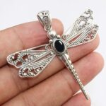 Black-Onyx-Dragonfly-925-Sterling-Silver-Pendant-Available-in-other-stones-too-B07RDL1Q54