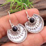 Black-Onyx-Gemstone-Sterling-Silver-Crescent-Moon-Dangle-Earrings-for-Women-and-Girls-Bezel-Set-Ear-Wire-Earrings-Blac-B08K645FYJ-2