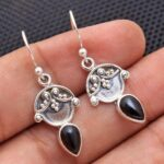 Black-Onyx-Gemstone-Sterling-Silver-Drop-Earrings-for-Women-and-Girls-Bezel-Set-Ear-Wire-Earrings-Black-Bridesmaid-Ear-B08K5Z1J13