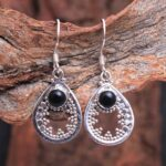 Black-Onyx-Gemstone-Sterling-Silver-Drop-Earrings-for-Women-and-Girls-Bezel-Set-Ear-Wire-Earrings-Black-Bridesmaid-Ear-B08K619H87-2