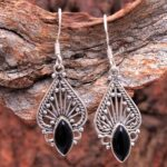 Black-Onyx-Gemstone-Sterling-Silver-Drop-Earrings-for-Women-and-Girls-Bezel-Set-Ear-Wire-Earrings-Black-Bridesmaid-Ear-B08K65DWTQ-2