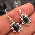 Black-Onyx-Gemstone-Sterling-Silver-Small-Drop-Earrings-for-Women-and-Girls-Bezel-Set-Ear-Wire-Earrings-Black-Bridesma-B08K61NWR5-2