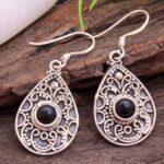 Black-Onyx-Gemstone-Sterling-Silver-Vintage-Drop-Earrings-for-Women-and-Girls-Bezel-Set-Ear-Wire-Earrings-Black-Brides-B08K62ZBXL-2