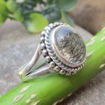 Black-Rutiliated-Quartz-925-Sterling-Silver-Ring-Gemstone-Handmade-Jewelry-B07L2V8Y2V