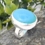 Blue-Chalcedony-Solid-925-Sterling-Silver-Ring-Handmade-Jewelry-B07L2MB4PH