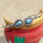Blue-Copper-Turquoise-Cuff-BraceletSolid-925-Sterling-Silver-BraceletPear-Shape-BraceletBraceletGift-For-HerHandmad-B084ZSZQWL