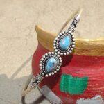 Blue-Copper-Turquoise-Cuff-BraceletSolid-925-Sterling-Silver-BraceletPear-Shape-BraceletBraceletGift-For-HerHandmad-B084ZSZQWL-2