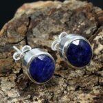 Blue-Sapphire-925-Sterling-Silver-Stud-Earrings-B07JD4SCPK