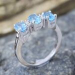 Blue-Topaz-Diamond-925-Sterling-Silver-Engagement-Ring-B07L2VFLXB