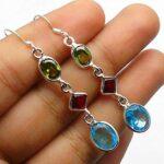 Blue-Topaz-Gemstone-Sterling-Silver-3-tier-Drop-Earrings-for-Women-and-Girls-Bezel-Set-Ear-Wire-Earrings-Blue-Bridesma-B08K63Z1MZ