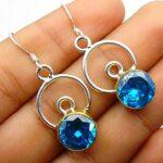 Blue-Topaz-Gemstone-Sterling-Silver-Dangle-Earrings-for-Women-and-Girls-Bezel-Set-Ear-Wire-Earrings-Blue-Bridesmaid-Ea-B08K62GX75