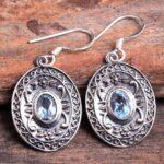 Blue-Topaz-Gemstone-Sterling-Silver-Dangle-Earrings-for-Women-and-Girls-Bezel-Set-Ear-Wire-Earrings-Blue-Bridesmaid-Ea-B08K63WVWJ