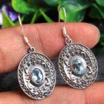 Blue-Topaz-Gemstone-Sterling-Silver-Dangle-Earrings-for-Women-and-Girls-Bezel-Set-Ear-Wire-Earrings-Blue-Bridesmaid-Ea-B08K63WVWJ-2