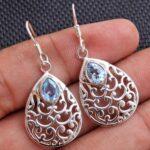 Blue-Topaz-Gemstone-Sterling-Silver-Filigree-Drop-Earrings-for-Women-and-Girls-Bezel-Set-Ear-Wire-Earrings-Blue-Brides-B08K62RP6P