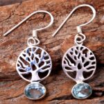 Blue-Topaz-Gemstone-Sterling-Silver-Tree-Drop-Earrings-for-Women-and-Girls-Bezel-Set-Ear-Wire-Earrings-Blue-Bridesmaid-B08K61Q324