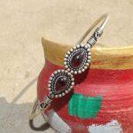 Cab-Cut-Garnet-Cuff-BraceletSolid-925-Sterling-Silver-BraceletPear-Shape-BraceletBraceletGift-For-HerHandmade-Cuff-B084ZSRTGM