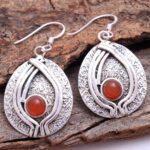 Carnelian-Gemstone-Sterling-Silver-Big-Drop-Earrings-for-Women-and-Girls-Bezel-Set-Ear-Wire-Earrings-Orange-Bridesmaid-B08K61PTL7-2