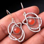 Carnelian-Gemstone-Sterling-Silver-Dangle-Earrings-for-Women-and-Girls-Bezel-Set-Ear-Wire-Earrings-Orange-Bridesmaid-E-B08K61LJ3C