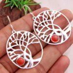 Carnelian-Gemstone-Sterling-Silver-Dangle-Earrings-for-Women-and-Girls-Bezel-Set-Ear-Wire-Earrings-Red-Bridesmaid-Earr-B08K63CN4B