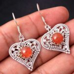 Carnelian-Gemstone-Sterling-Silver-Heart-Drop-Earrings-for-Women-and-Girls-Bezel-Set-Ear-Wire-Earrings-Orange-Bridesma-B08K61DJ3G