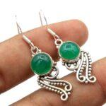 Chalcedony-Gemstone-Sterling-Silver-Boho-Dangle-Earrings-for-Women-and-Girls-Bezel-Set-Ear-Wire-Earrings-Green-Bridesm-B08K61G17G-2