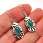 Chalcedony-Gemstone-Sterling-Silver-Dangle-Earrings-for-Women-and-Girls-Bezel-Set-Ear-Wire-Earrings-Green-Bridesmaid-E-B08K65GZTQ
