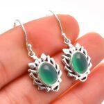 Chalcedony-Gemstone-Sterling-Silver-Designer-Drop-Earrings-for-Women-and-Girls-Bezel-Set-Ear-Wire-Earrings-Green-Bride-B08K5Z3CD2