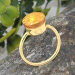 Checkerboard-Citrine-925-Sterling-Silver-Ring-Handmade-Jewelry-B07L2VZXDM