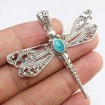Citrine-Dragonfly-Two-Tone-925-Sterling-Silver-Pendant-B07JG5XFLZ-9